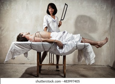 Group women nude at morgue