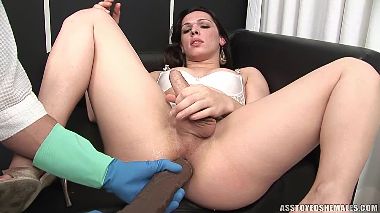 Ass toyed trannies thumbs