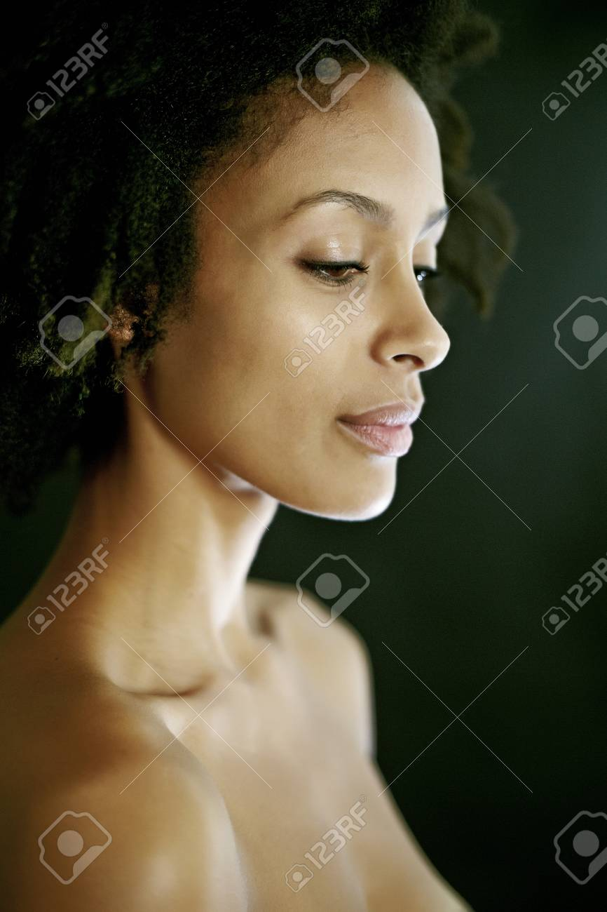 Woman of mixed race nude